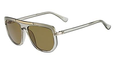 Calvin Klein Eyewear Square Sunglasses (Tortoise/Orange)