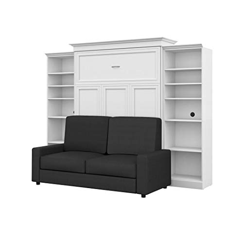 Bestar 4-Piece Queen Wall Bed, Two Storage Units and Sofa Set - Versatile