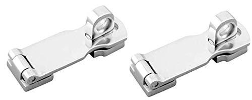 Two Stainless Steel Heavy Duty Door Hasps with Turning Padlock Eye Mount (Door Locks Steel Stainless)