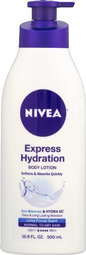 Nivea Express Hydration Body Lotion Lotus Flower Scent Normal to Dry Skin