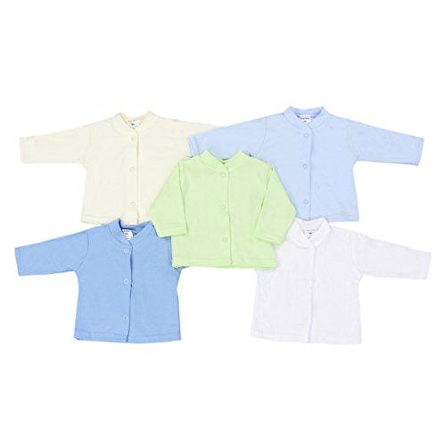 Babyjäckchen Neugeborene Baby-Langarmshirt Mädchen Erstausstattung 100% Baumwolle Jungen 5er SET, Farbe: Junge, Größe: 62