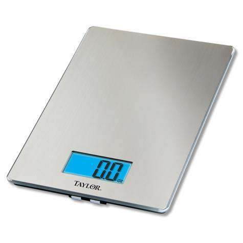 3844 9 Stainless Steel Digital Kitchen Scale By Taylor