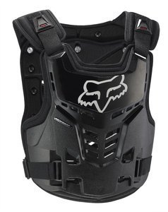 Chest Fox Protector - Fox Racing Adult Proframe LC Chest Protector Black Small/Medium S/M