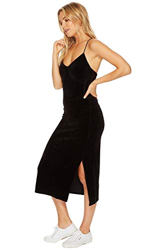 Juicy Couture Womens Stretch Velour CrossBack Slip Dress