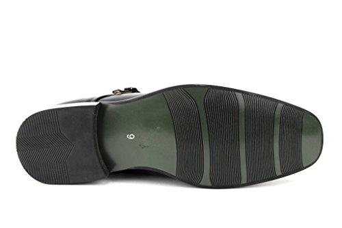 Heren 95702 Dubbele Monkstrap Casual Loafers Jurk Schoenen Zwart