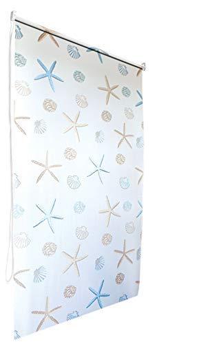Tenda a Rullo per Doccia in Stile retr/ò Extra Lunga 4 Misure di Larghezza 140 x 240 cm