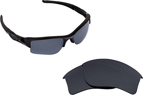 Black Iridium Lens Sunglasses (Best SEEK Replacement Lenses Oakley FLAK JACKET XLJ - Polarized Black Iridium)