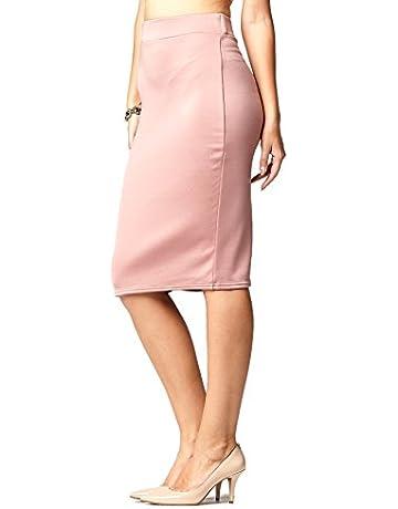 dcf1aa0b9 Premium Women's Pencil Skirt - Elastic Waist - Stretch Bodycon Midi Skirt -  Many Colors