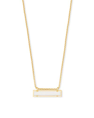 (Kendra Scott Leanor Gold Pendant Necklace in White)