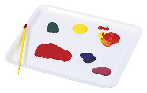 School Smart Plastic Art Tray, 13 x 18 x 1 Inches, White by School Smart