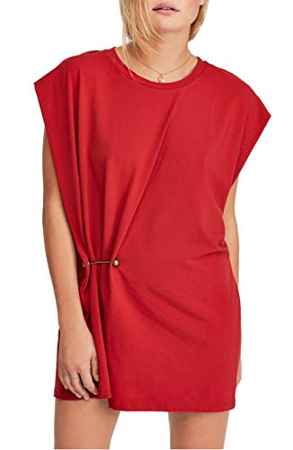 Free People | Shift Dress with Metal Grommet RED S from Free People