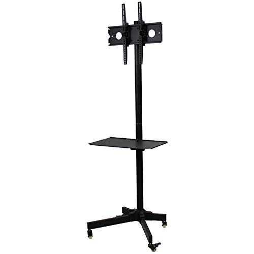 NavePoint Flat Panel TV Cart Height Adjustable 23 Inch to 55 Inch Mobile Stand w Wheels