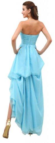 Orifashion para vestido de noche mujer Tirantes los Color Azul Claro azul claro
