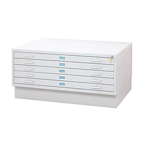 (Safco Products 4997WHR Flat File Closed Base for 5-Drawer 4996WHR Flat File, sold separately, White)