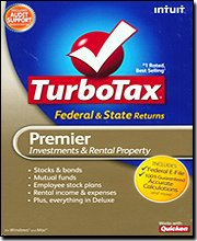 TurboTax 2009 Premier Federal + State + Federal efile