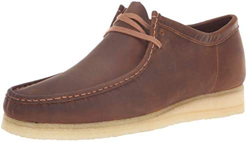 Men/'s Clarks Original Low Wallabee Shoe Brown Beeswax Leather 26134200
