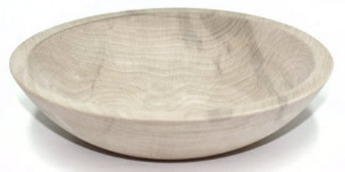 9 Inch Unfinished Solid Beech Wood Bowl