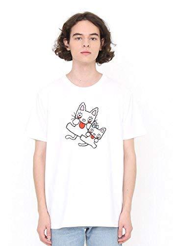 大人認証不運(グラニフ) graniph コラボレーションTシャツ/ノンタンタータンあかんべ (ノンタン) (ホワイト)