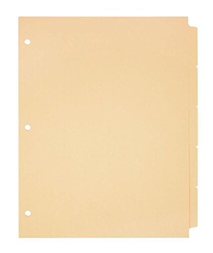 (Office Depot Plain Dividers With Write-On Tabs, Manila, 5-Tab, Pack Of 50 Sets, 3585478688)