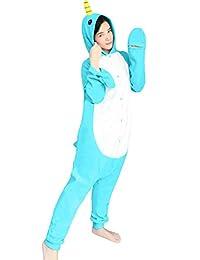 dressfan Animal Cosplay Costume Narwhal Pajamas Adult Kids