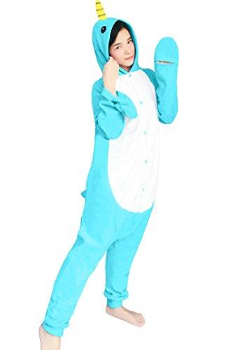 dressfan Animal Cosplay Costume Narwhal Pajamas Adult]()