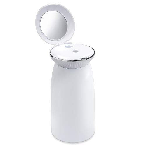 VTAR Portable USB Humidifier, 350ml Mini Personal Small Humidifier for Bedroom Office Car and Travel with Quiet Operation, 6 Hours Auto Shut-Off (White)