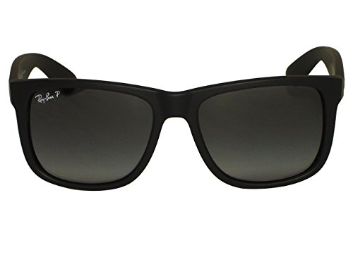 Ray Ban RB4165 Justin 622/2V Black Polarized Sunglasses - Rb4165 622