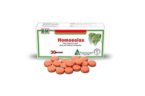 Homoeolax Gentle Natural Laxative Tablets - Herbal Alternative Remedy by Bestmade for Safe & Rapid Relief of Constipation