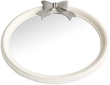 オーバルレディースバニティミラー - 弓女の子誕生日プレゼント46×39センチメートルとバスルームモダンミニマリストスタイルのためのミラー