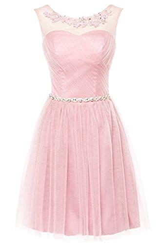 Partykleider Kleid Kleid 2016 Pink Damen Neue CoutureBridal Schickes Kurzes Brautjungfer Cocktailkleider fHwFZz