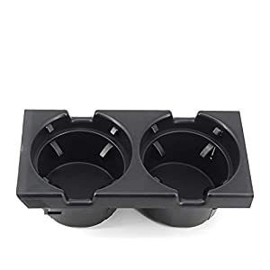 FEXON Cup Holder for BMW E46 3 Series 1998-2005, Replacement for Front Center Console Replaces 51168217953 (Black) (Color: Black)