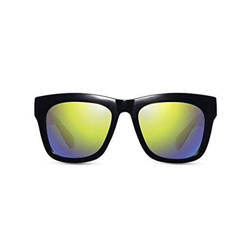 Gafas Gafas Protección Vintage nuevas de casuales para sol de sol UV Personalidad de Opcio de UV400 mujer Protección Gafas de conducción sol Regalo aire libre de al Frame Reflective Green Black excursionista Gafas sol polarizadas rqrOT