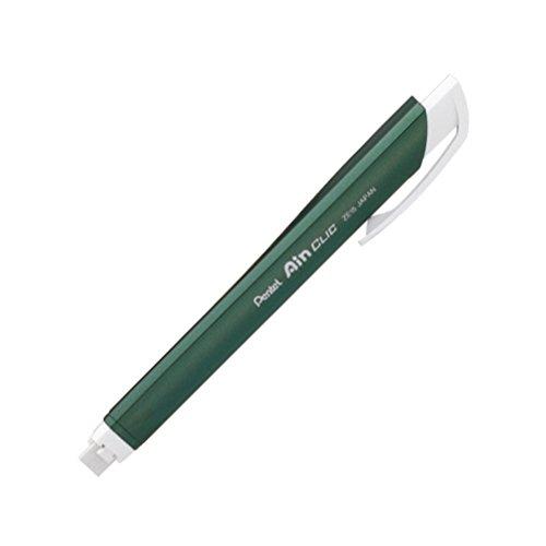 Pentel Stick Type Knock Eraser, Metal Green (XZE15-MD) by Pentel (Image #4)