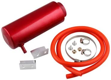 Anngo Racing Radiator Coolant Overflow Billet Aluminum Oil Catch Tank Round Oil Catch Can Reservoir 800ml Red