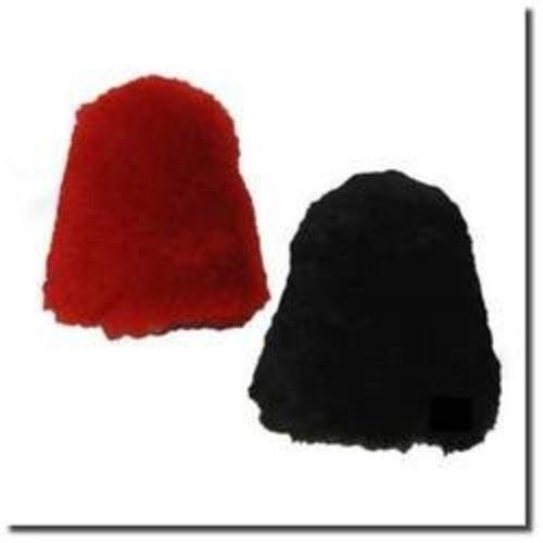 "Large Dual 100% Lamb Wool Buffer Covers Fit 2.75""Dia x 4""High - Beck Diplomat, Deluxe Shoe Polishers"