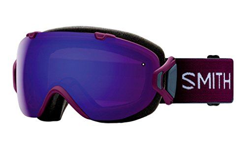 Smith Optics Womens I/OS Snowmobile Goggles Grape Split / ChromaPop Everyday Violet Mirror