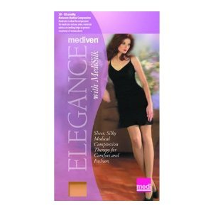 - Medi Women's Elegance Sheer Firm Support Petite Pantyhose, SAND, V