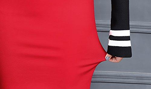 5d24e00b694f ... Bleistiftrock Damen Elegant Fashion Einfarbig High Waist Stretch Paket  Hüfte Business Rock Kurz Jungen Mode Mädchen ...