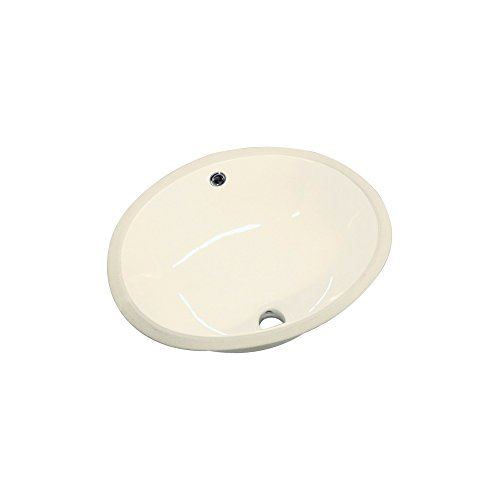 (Transolid TL-1520-08 Madison Petite Oval Undermount Vitreous China Lavatory, Biscuit)