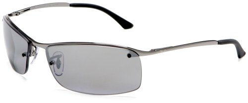 Gunmetal Frame Grey Polarized Lens (Ray-Ban RB3183 - GUNMETAL Frame POLAR GREY MIRROR SILVER GRAD. Lenses 63mm Polarized)