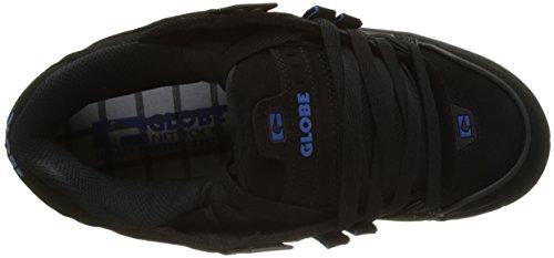 Globe Sabre, Zapatillas de Skateboard para Hombre Negro (Black/Black/Blue)