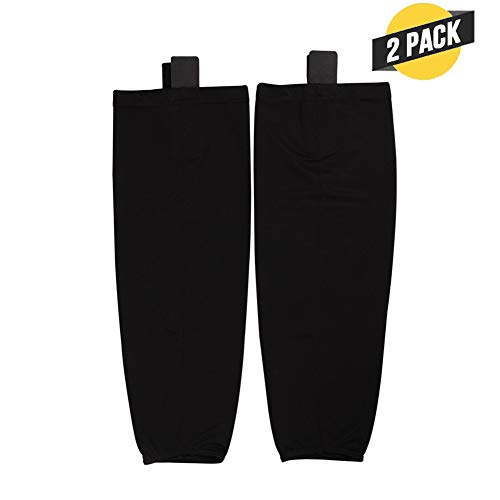 (Hockey Socks (2Pack), EALER Adult Solid Color Dry Fit Mesh Practice Ice Hockey Sock )