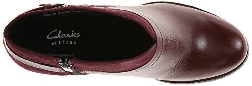Clarks Womens Mission Parker Chelsea Boot Burgundy p5t45n5K