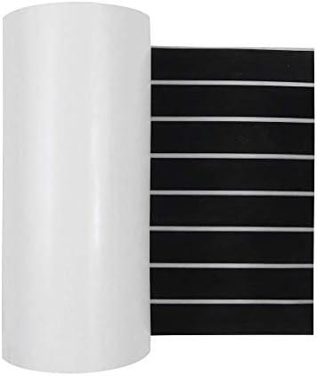 ZGQA-GQA 装飾材料、ボートフローリングデッキシートパッド黒と白のライン240x45cm EVAフォームフェイクチーク