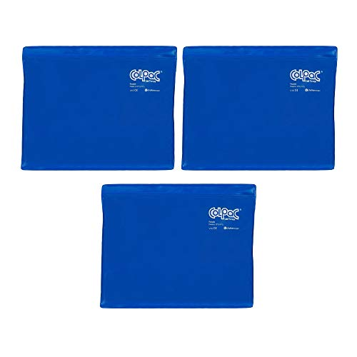 - Chattanooga ColPac Reusable Gel Ice Pack Cold Therapy - Blue Vinyl - Standard - 11 in x 14 in - (3 Pack - Value Bundle)