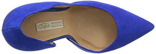 Buffalo London 11622-290 SUEDE - zapatos de tacón cerrados de cuero mujer azul - Blau (BLUE247)