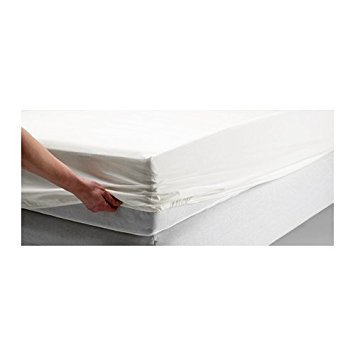 IKEA Dvala White Fitted Sheet 100% Cotton, Queen
