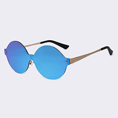 TIANLIANG04 espejo revestimiento atrás Gafas de bastidor sol Vintage redondo C04rojo forma de metálico UV400 sol de de C03Blue gafas zzxwPf7n