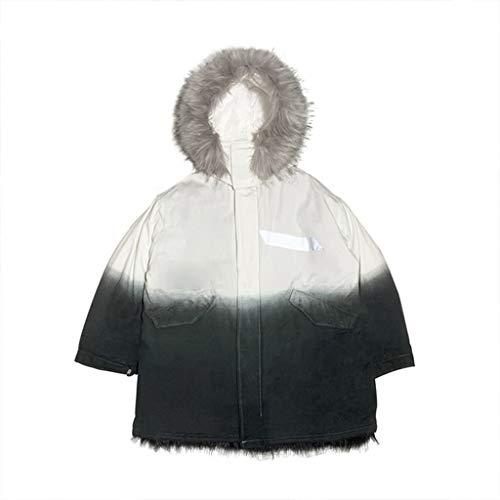 Donna Uomo Sfumato Black Cappotti Pelliccia Invernale E Spesso Nero Cotone Da Vestibilità Bianco In Regalo Giacche Miglior Giacca Con Collo g4q0t64