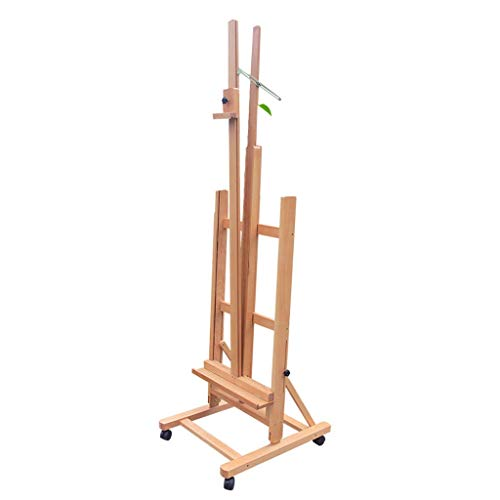 Easel Royal@ Beech, Landing Adjustable Front and Rear Oil, Mobile with Brake Sketch Display Stand, Folding and Lifting Professional, Wood Color (Chassis Lighting)